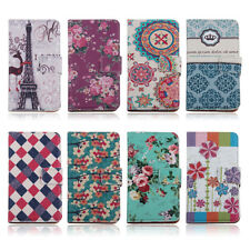 Wallet Flip Flower PU Leather Stand Case Cover Pouch for LG Google Nexus 5 D820