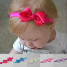 New Baby Girls Satin Bow Elastic Headband Newborn Toddler Hair Accessories Band