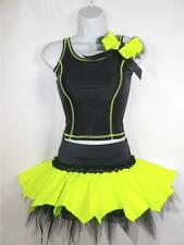 2 or 4 PIECE DANCE STAGE COSTUME ROCK N ROLL FREESTYLE SOLO DISCO PAGEANT OUTFIT