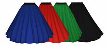 Vintage Style 40's 50's Rockabilly Full Circle Crepe Swing Skirt  New 8 - 20+