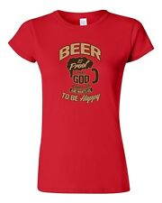 Junior Beer Is A Proof That God Loves Us Funny Humor Novelty DT T-Shirt Tee