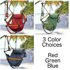 Deluxe Air Hammock Hanging Patio Tree Sky Swing Chair Outdoor Porch Lounge