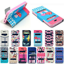 Cartoon Flip Stand 2Window Leather Case Cover Skin For Apple iPhone 4 4S 5 5S 5C