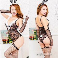 Women Lady Lace Sexy Girl Bunny Costume Stripper Lingerie Playboy Tights Uniform