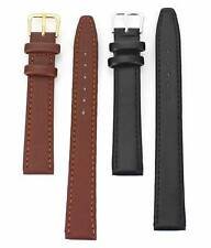 16 18 mm length Men Women Black Brown Leather Wrist Watch Band Watches Strap