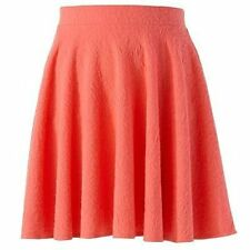 LC LAUREN CONRAD CORAL TEXTURED CIRCLE SKIRT SIZE X-SMALL;NWT