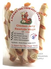Homemade Chicken Jerky Wrapped With Rawhide, Your Dogs Will Love These Chews!