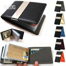 Card holder Money clip Billfold Mens Slim thin breast travel bifold wallet lot 1