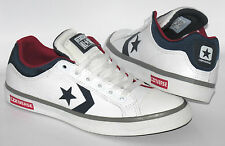 Mens New CONVERSE STAR STREET OX White Leather Trainers 138717C