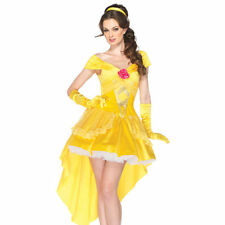 Sexy Ladies Princess Belle womans fancy dress Fairytale Adult Costume Outfit