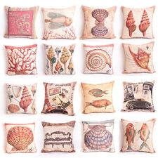 "16 Styles Retro Home Decor Cushion Cover Throw Pillow Case 18"" Sofa Linen"
