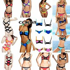 New Women's Bandage Push-up Padded Bra Swimsuit Bathing Suit Swimwear Bikini Set