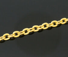 Wholesale HOT! Jewelry Gold Plated Link Chain Findings 3x2.5mm