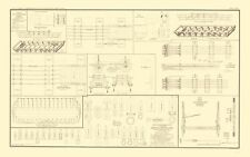 DRAWINGS OF CANVAS PONTOON BOATS AND CHESS WAGONS BY BIEN 1895