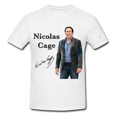 WS016 Nicolas Cage autographed signed T-SHIRT T SHIRT SIGNATURE