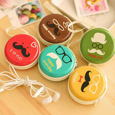 Chic Korea 6 Candy Colors Creative Circular Iron Beard Mini Purse Wallets Bag