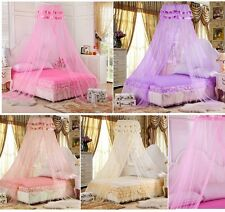 Princess Lace Mosquito Net Canopy Bites Protect For Twin Queen King Size