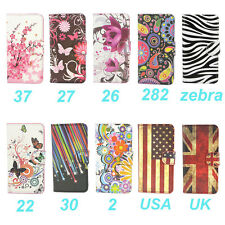 Wallet Flower Leather Folio Stand Case Cover For LG Optimus L70 D320 MS323
