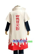 Naruto Minato Namikaze Cosplay Costume 4th Hokage Yondaime Cloak Cape Halloween