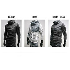 Mens Casual fashion slim Fleece Full Track joint Contrast color Suits N