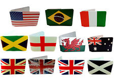Oyster Card Holder Wallets for Train Tickets and Bus Pass - Flags of the World
