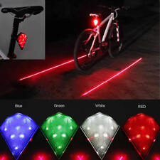 Bike Tail Rear Light Rechargeable Bicycle LED Taillight With 2 Laser Beam 8 LED