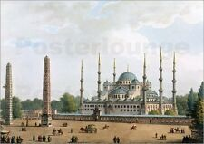 "Poster / Leinwandbild ""The Mosque of Sultan Achmet at Constantino..."" - L. Mayer"