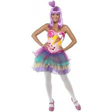 Candy Costumes Sexy Adult Cupcake Girl Pop Star Halloween Fancy Dress Outfit