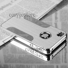 NEW Silver Aluminum Steel Metal Shockproof Hard Cover Case for iPhone 4 4S 4G
