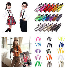 Various Colors Men's Women's Clip-on Suspender Elastic Trouser Adjustable Braces