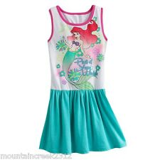 NWT DISNEY PRINCESS Girls ARIEL Little Mermaid Glittery Dress U Pick Size NEW
