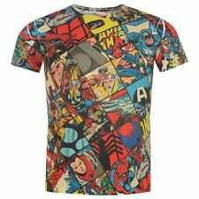 MENS MARVEL COMICS SUPERHERO IRONMAN SPIDERMAN THOR CAPTAIN AMERICA T-SHIRT