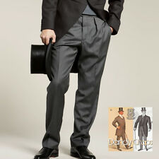Men's quality traditional grey striped morning suit trousers hose - TGSBT001