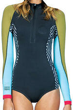NEW BILLABONG CHEEKY SPRINGSUIT WETSUIT 8 12 SALTY DAZE WOMEN MULTI NEOPRENE