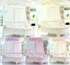 Luxury Floral Mosquito Net Bed Canopy Princess Bedding Twin / Queen / King Size