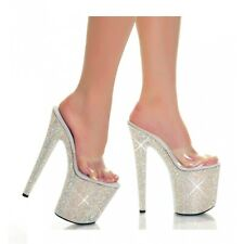 High Heel Platform Shoes Adult Womens Sexy Sandals Shoes with Rhinestones