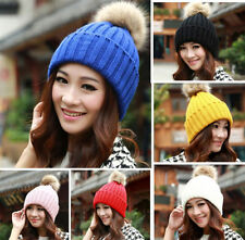 HOT Women's Winter Warm Crochet Knitting Hats Beret Ski Beanie Ball Caps Hats