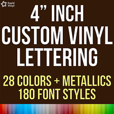 "4"" Custom Vinyl Lettering Text Name Decal Car Sticker Personalized Wall Window"