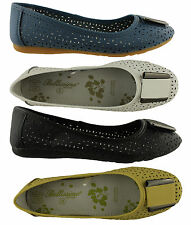 BELLISSIMO ASHES LADIES/WOMENS LEATHER SHOES/BALLET FLATS/CASUAL/COMFORTABLE!