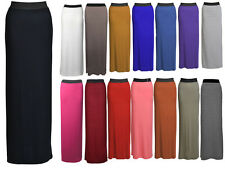 New Womens Long Jersey Gypsy Maxi Dress Skirt Ladies Skirt Size (8-14) (16-26)