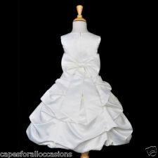 IVORY QUINCEANERA PARTY PAGEANT WEDDING FLOWER GIRL DRESS 2 4 6 7 8 10 12 14 16
