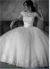 Ivory/white wonderful New wedding dress in stock Size 6 8 10 12 14 16  A+++