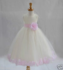 IVORY FLOWER GIRL DRESS PAGEANT WEDDING BRIDESMAID DANCE PARTY 12-18M 2 4 6 8 10