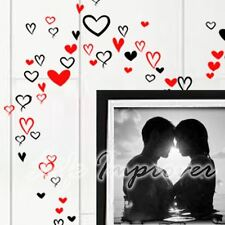 Jusqu'à 90 Manuscrit élégant coeur Art Vinyl Wall Graphic Decal Sticker