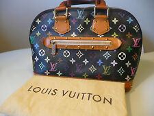 AUTH. LOUIS VUITTON ALMA MULTICOLOR BLACK PM M92646 RETAIL: 2740 $ (NO RESERVE)