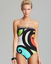 Trina Turk Pop Wave Bandeau One-Piece Swimsuit Multi NWT $138