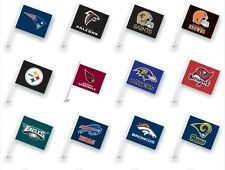 NFL CAR WINDOW FLAG TWO SIDES Assorted team ~~~