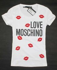 Love Moschino Women's Stereoscopic Embroidery Sexy Lips T-Shirt/Top 19311