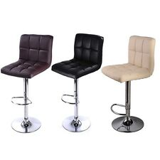 Bar Stool PU Leather Barstools Chairs Adjustable Counter Swivel Pub Style New