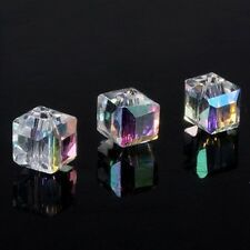 20pcs Glass Crystal Cube Beads Spacer  For Jewel diy 6x6x6mm
